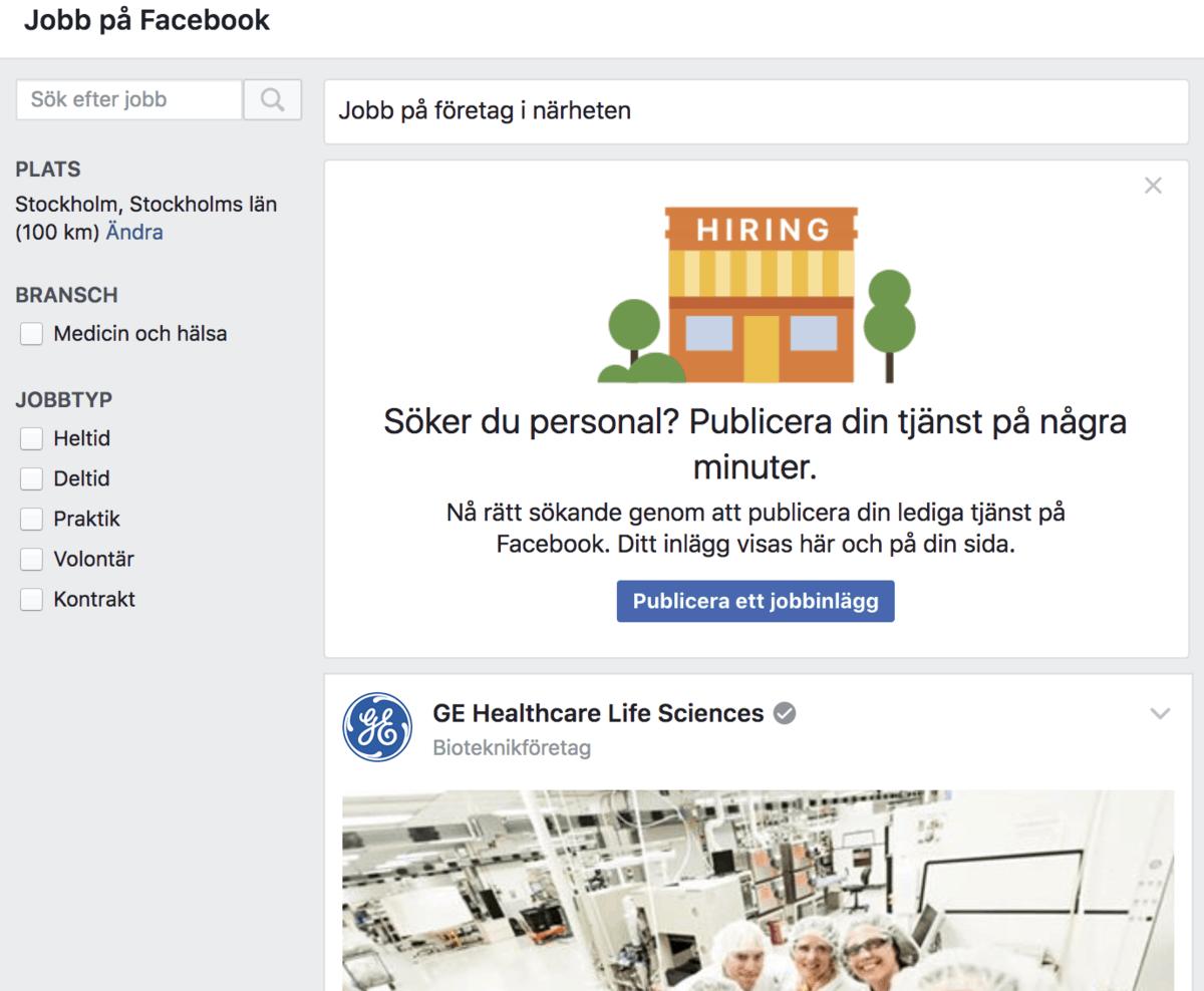 Facebook Jobs är här – så lägger du in en jobbannons!